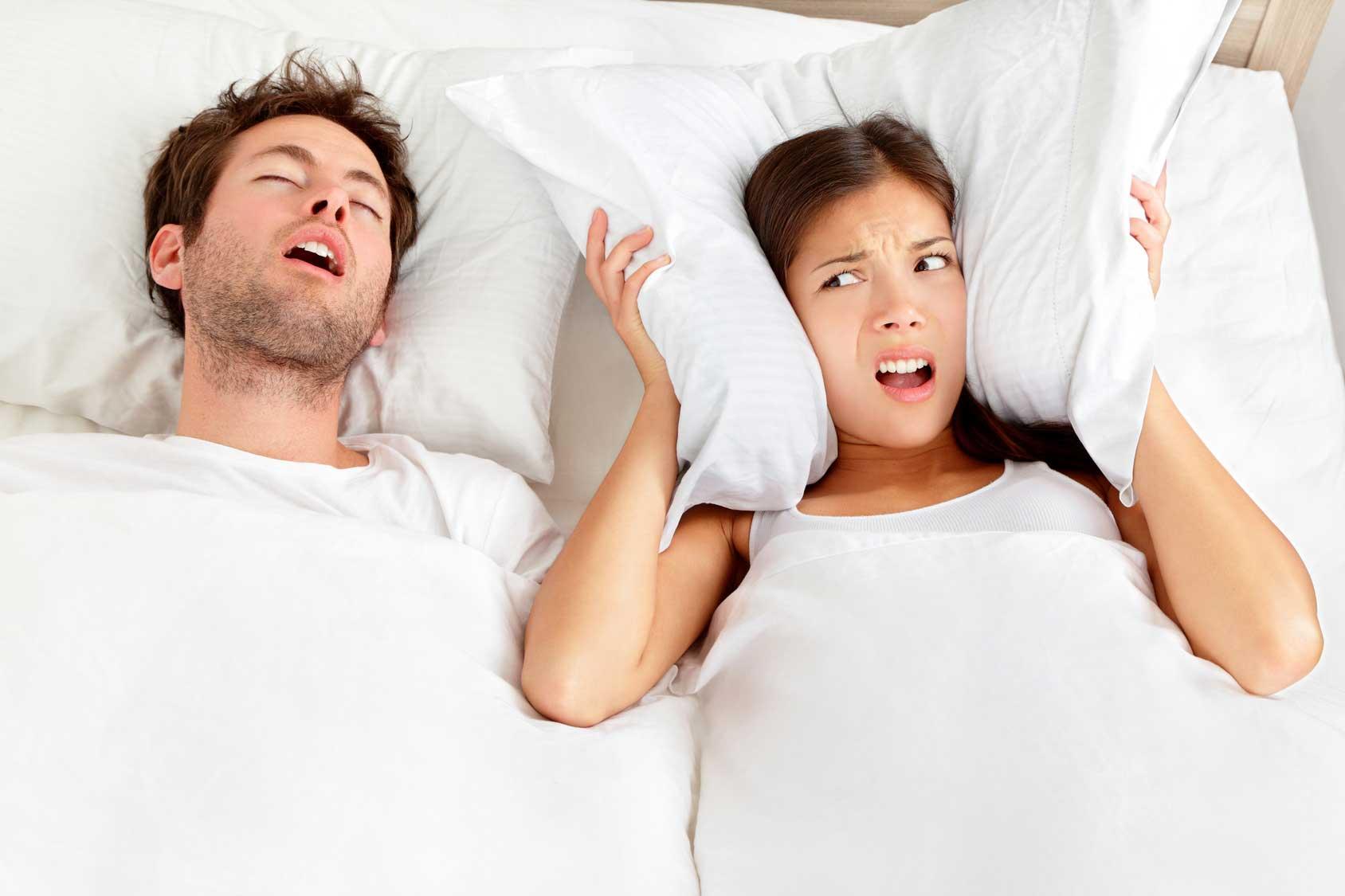 schlaflos durch schnarchen